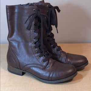 New MOSSIMO lace up moto military short boot